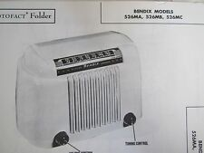 BENDIX 526MA, 526MB, & 526MC RADIO PHOTOFACT