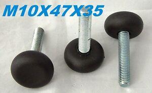 10x M10x45-47x35 mm Verstellfuß Möbelfußschraube Stellschraube Stellteller