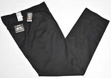 Dockers Pants Men's 34x38 Iron Free Khaki Classic Fit Pleated Stretch Black N826