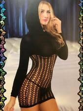 Fishnet Pullover Mini Dress Bodystockings, Hen Party Wear, Lingerie Size 6-14