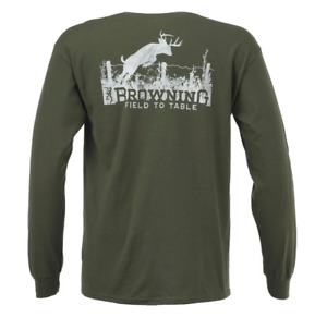 NEW Browning Men's Authentic Arms Classic Outdoor Graphic T-Shirt Size Small