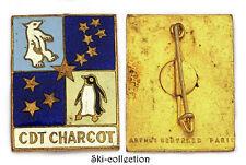 Insigne Marine Batiments- Commandant CHARCOT, Navire Océanique. AB +poincon
