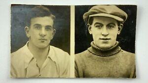 1922 Real Photo Football Card Nelson Lee Library F Ferguson J Woodhouse V712