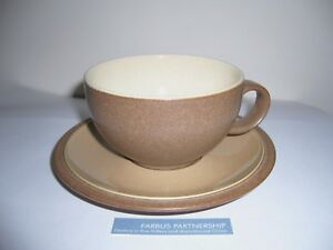 DENBY - CINNAMON - TEA CUP AND SAUCER - VERY GOOD USED CONDITION**d