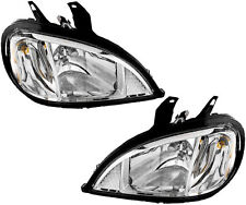 04-13 Freightliner Columbia HD Truck Headlights Headlamps (w/Bulb) NEW Pair Set