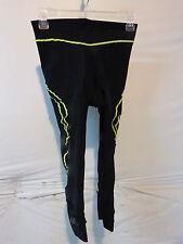 Louis Garneau Pro Cycling Knickers Women's Medium Black/Yellow Retail $89.99