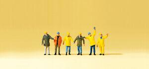 Preiser 79142 Spur N Figuren, Arbeiter mit Schutzkleidung #NEU in OVP#