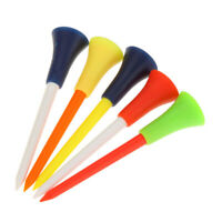 50 PCS/lot Multicolor Golf tee 83mm Plastic Golf Tees Rubber Cushion US