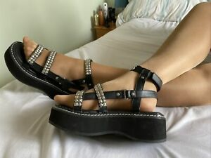 Demonia Gothic Steampunk Vegan Dr Martens Platform Sandal Size 8 EUR 41