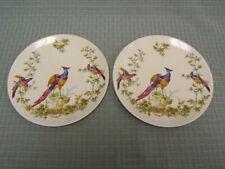 "Pair of Vintage Spode Peacock Fine Bone China Dishes 8"" diameter VGC"