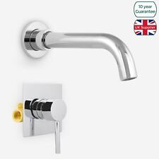 """GIO BASIN SINK MODERN TAP WALL MOUNTED CONCEALED VALVE 1/2"""" MIXER HOT AND COLD"""