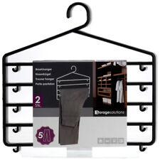 2 Hanging Plastic Trouser Skirt Pants Hangers Clothes Wardrobe Closet Organiser