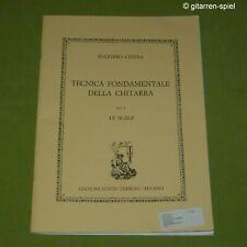 R. Chiesa Tecnica Fondamentale Vol 1 Technische Übungen Gitarre ESZ 6582 Top!