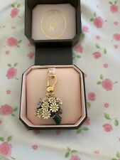 JUICY COUTURE DAISY FLOWER BOUQUET CHARM keychain daisy butterfly bling