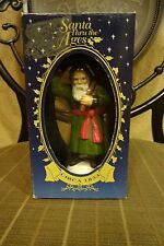 1995 Santa Thru The Ages Christmas Collectible  St Nicholas Bavaria Green Robe