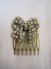 Women Bow Crystal Rhinestone Pearl Hair head Pin comb jewelry wedding party