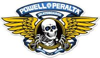"Powell Peralta Winged Ripper Die Cut Blue Clear Skateboard Sticker Decal 5"" New"