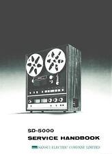 SANSUI SD-5000 aut REV RL pour RL ST Tape Deck service manual Inc SCMS Imprimé ENG