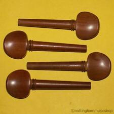 NEW SET OF BROWN HARDWOOD 4/4 SIZE CELLO STRING TUNING PEGS GOOD QUALITY