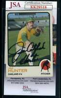 Jim Catfish Hunter JSA Coa Autograph 1973 Topps Hand Signed