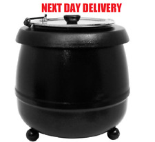 More details for 10 litre food soup warmer commercial kettle stainless steel electric pot uk plug