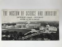 1950 THE MUSEUM OF SCIENCE AND INDUSTRY New West Pavilion Exhibits Open Brochure