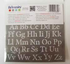 Pochoir 2 Alphabets Lettres tous supports planche 15cm Artemio Home Deco