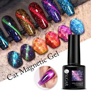 UR SUGAR 7.5ml Nagel Gellack Magnetisch Glitzern Gel UV Nagellack Gel Polish