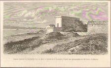 ILE DE CAPRERA ISLAND MAISON GARIBALDI IMAGE ENGRAVING 1880