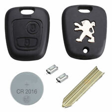 Peugeot DIY Repair Kit 2 Button Remote Car Key Fob Case with SX9 Blade CR2016