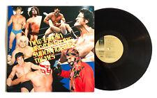NEW JAPAN PRO-WRESTLING SUPER FIGHTER'S THEMES JAPAN VINYL LP K25A-18 w/Poster