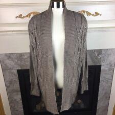 $60 NWT APT 9 XS Tan Metallic Acrylic Blend Open Cardigan Duster Sweater