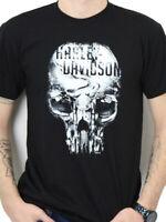 Harley-Davidson Mens Eternal Freedom Skull Black Short Sleeve T-Shirt