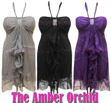 Chiffon Petite Sleeveless Dresses without Pattern for Women