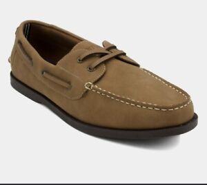 "Nautica Mens ""NUELTIN"" Boat Shoe, CAMEL, size ~ 13 NIB ( No Reserve)"