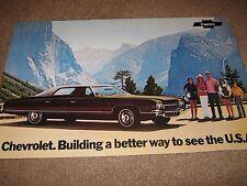 1972 Chevrolet Caprice 11 x 17 Original Dealer-Showroom Brochure/Poster Autoshow