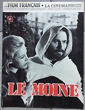 Magazine LE FILM FRANCAIS La Cinémato LE MOINE Franco Nero NATHALIE DELON 1972 *
