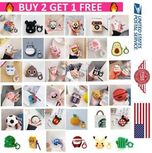Cute 3D Cartoon Silicone Case Protector Shockproof CoverFor AirPods 1&2 Skins US