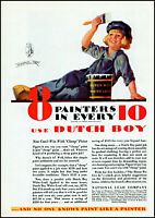 1931 Dutch Boy paint National Lead company painter vintage art print ad ads48