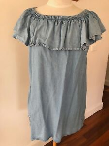 Seed Heritage Off the Shoulder Tencel Dress - Size S
