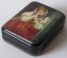 Russian Art Fedoskino Lacquer Miniature Box FF111