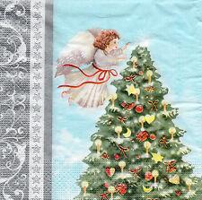 4 lose Servietten Motivservietten Weihnachten Weihnachtsbaum Engel (1233)