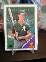 1988 Topps All Star Rookie Mark McGwire Oakland Athletics Baseball Card No. 580