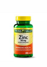 Spring Valley Zinc 50 Mg 200 Tablets