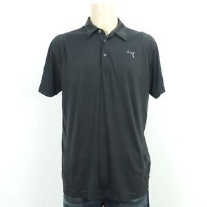 PUMA Polo-Shirt Golf Kurzarm T-Shirt Herren Schwarz Gr. 56/58 L