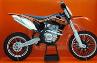 KTM SXF 450 1:10 Die-Cast Motocross Mx Motorbike Toy Model Bike Orange New Ray