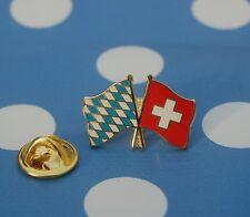 Freundschaftspin Bayern Schweiz Pin Badge Button