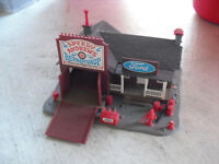 Vintage HO Scale Pola Speedy Andrew's Repair Shop Ford Building