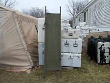 MILITARY SURPLUS ARMY CANVAS STRETCHER COT CAMPING HUNTING  IN TRUCK TRAILER