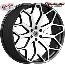 "Borghini B28 Black Machined & Milled Lip 24""x9.5 Custom Wheels Rims (set of 4)"